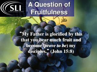 A Question of Fruitfulness