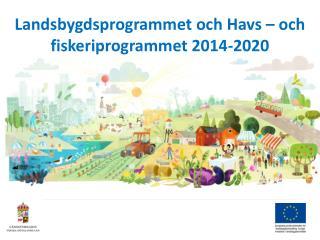 Landsbygdsprogrammet och Havs – och fiskeriprogrammet 2014-2020