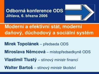 Odborná konference ODS Jihlava, 6. března 2006