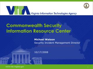 Commonwealth Security Information Resource Center