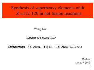 Synthesis of superheavy elements with     Z =112-120 in hot fusion reactions
