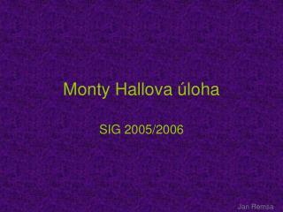 Monty Hallova úloha