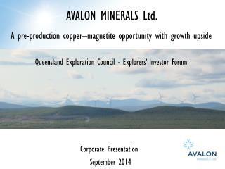 AVALON MINERALS Ltd.