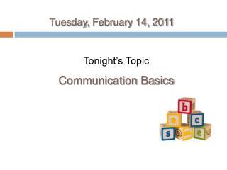 Tuesday, February 14, 2011