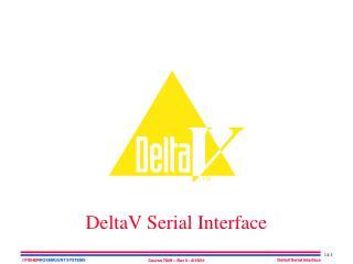 DeltaV Serial Interface