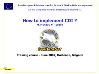 How to implement CDI ? M. Fichaut, V. Tosello