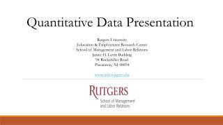 Quantitative Data Presentation