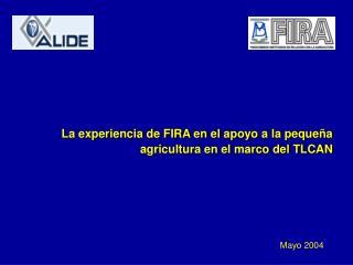 La experiencia de FIRA en el apoyo a la peque a agricultura en el marco del TLCAN