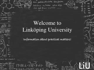 Welcome to  Linköping University