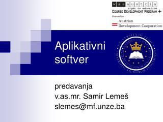 Aplikativni softver