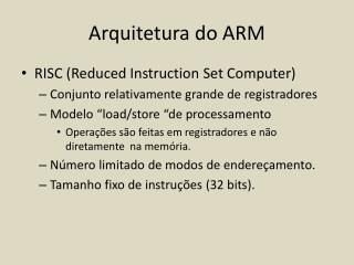 Arquitetura do ARM