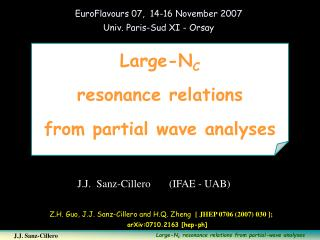 Large-N C resonance relations  from partial wave analyses