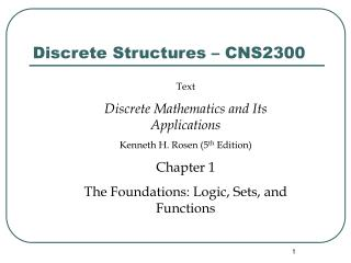 Discrete Structures – CNS2300