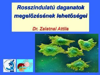 Rosszindulatú daganatok megelőzésének lehetőségei Dr. Zalatnai Attila