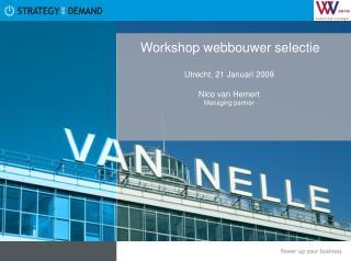 Workshop webbouwer selectie