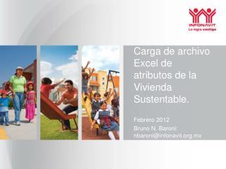 Carga de archivo Excel de atributos de la Vivienda Sustentable.