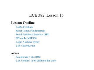 ECE 382  Lesson  15