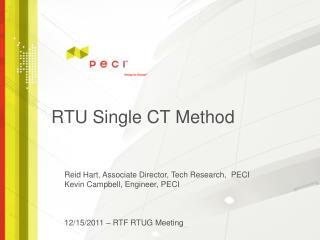 RTU Single CT Method