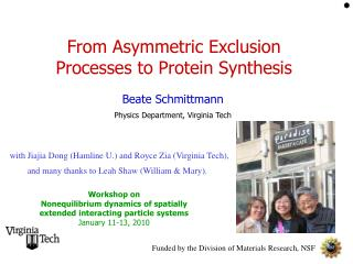 From Asymmetric Exclusion Processes to Protein Synthesis