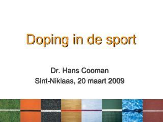 Doping in de sport