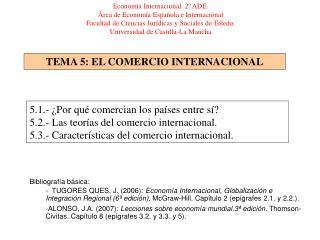 TEMA 5: EL COMERCIO INTERNACIONAL