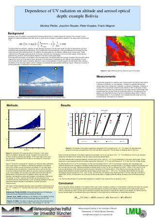 Meteorologisches Institut  Theresienstr. 37 D –80333 Munich moni@meteo.physik.uni-muenchen.de