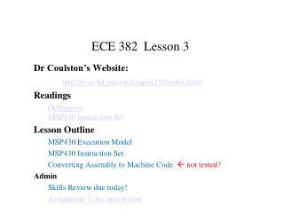 ECE 382  Lesson 3