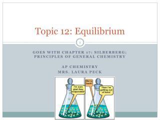 Topic 12: Equilibrium