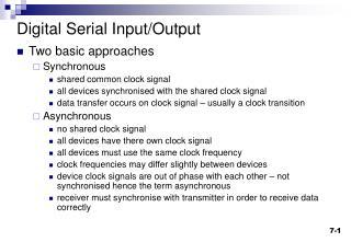 Digital Serial Input/Output