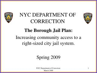 NYC DEPARTMENT OF CORRECTION