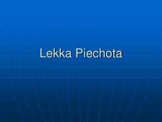 Lekka Piechota