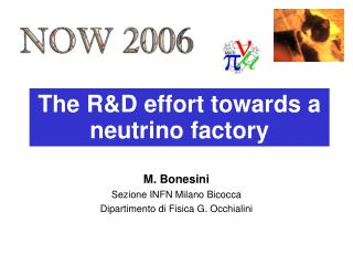 The R&D effort towards a neutrino factory