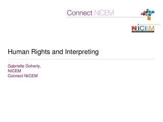 Human Rights and Interpreting