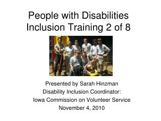 People with Disabilities Inclusion Training 2 of 8