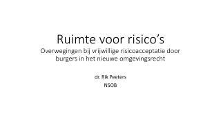 dr. Rik Peeters NSOB