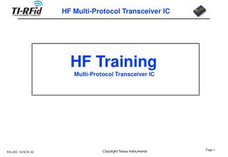 HF Training   Multi-Protocol Transceiver IC