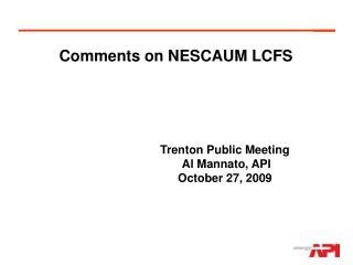 Comments on NESCAUM LCFS