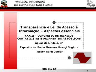 Transparência e Lei de Acesso à Informação – Aspectos essenciais