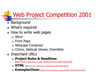 Web Project Competition 2001