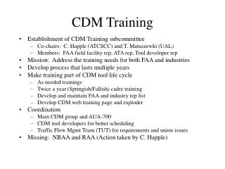 CDM Training