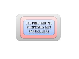 LES PRESTATIONS PROPOSEES AUX PARTICULIERS