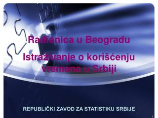 REPUBLIČKI ZAVOD ZA STATISTIKU SRBIJE
