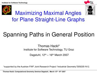 Maximizing Maximal Angles for Plane Straight-Line Graphs