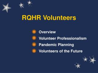 RQHR Volunteers
