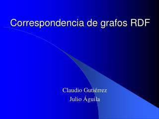 Correspondencia de grafos RDF