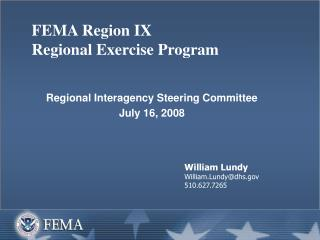 FEMA Region IX Regional Exercise Program