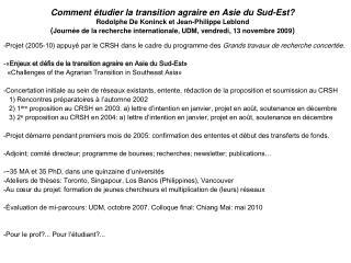 LES ÉTATS DE L'ASIE DU SUD-EST (2002)