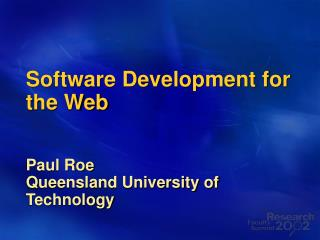 Software Development for the Web