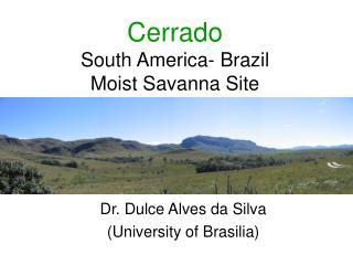Cerrado South America- Brazil Moist Savanna Site