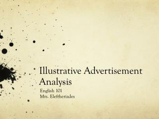 Illustrative Advertisement Analysis